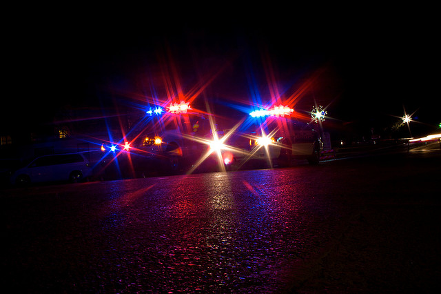 Police Car Lights by Robert Kuykendall